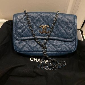 Handbags - Chanel blue flap bag